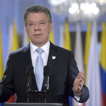 Image: Colombian President Juan Manuel Santos
