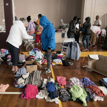 Image: People displaced by North Carolina Flooding