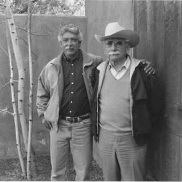 Roberto Alvarez (right) and Roberto Alvarez Jr., at the School of American Research, New Mexico 1996.