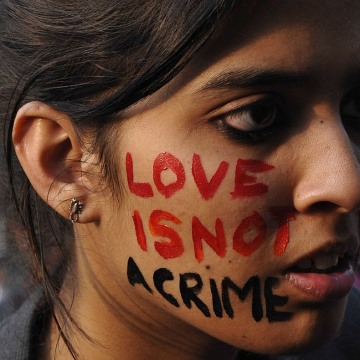 LGBT Activists And Supporters Protest Against Supreme Court's Verdict On Section 377 of IPC