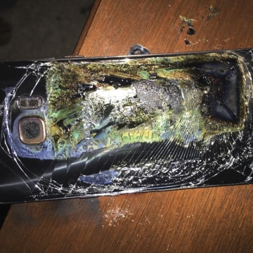 Image: A damaged Samsung Galaxy Note 7