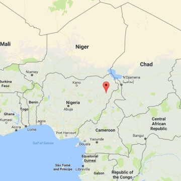 Image: Map showing the location of Chibok, Nigeria