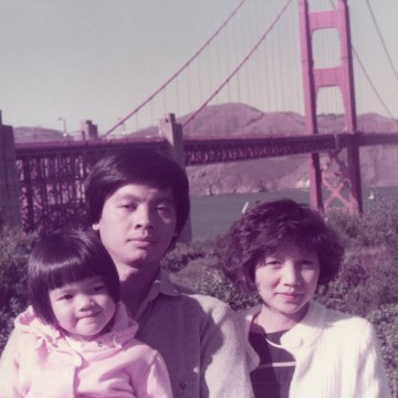 Henry Le with his wife Dep Nguyen and their daughter Diana in the early 1980s.