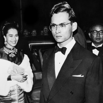 Image: King Bhumibol Adulyadej Of Thailand and Queen Sirikit Kitiyakara