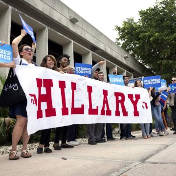 Image: Hillary Clinton campaigns Event in Miami, Florida