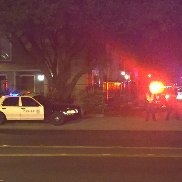 Image: Police activity at the scene in Austin, Texas.