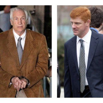 Image: Jerry Sandusky and Mike McQueary in 2012