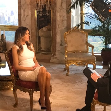 Image: Melania Trump on CNN