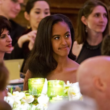 Image: Malia Obama attends the state dinner for Canadian Prime Minister