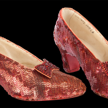"Image: Ruby slippers from ""The Wizard of Oz"""