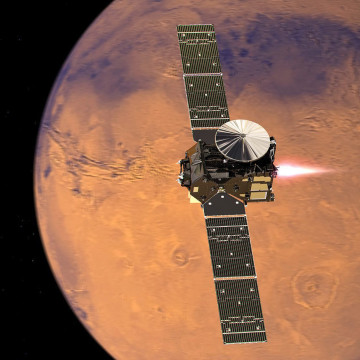 Image: An artist's rendering of the ExoMars 2016 Trace Gas Orbiter