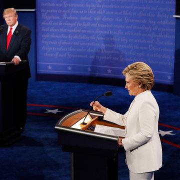 Image: Final Presidential Debate Between Hillary Clinton And Donald Trump Held In Las Vegas