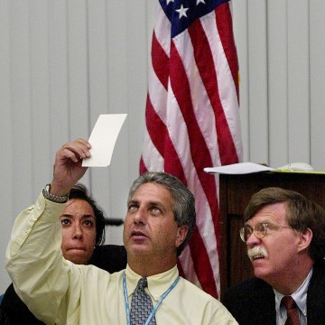 Image: 2000 saw a manual recount of ballots in Florida.