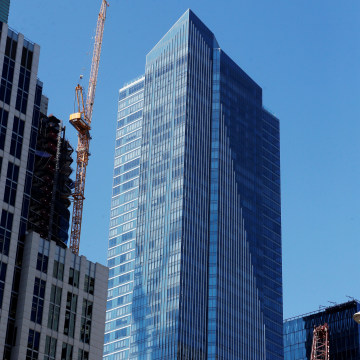 Image: The Millennium Tower is pictured in San Francisco, California