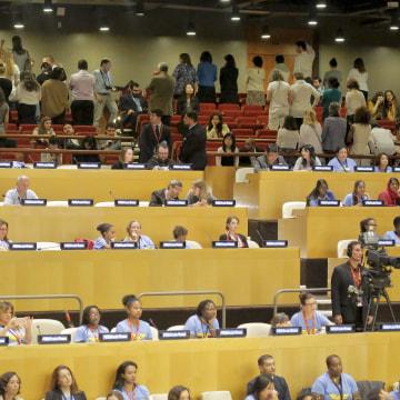 IMAGE: Wonder Woman protest at the U.N.
