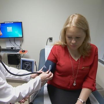 Nilda Rivera and her cardiologist Dr. Quinones-Garcia.