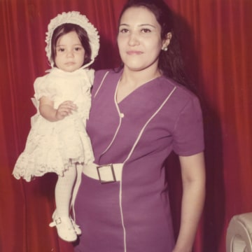 Undated photo Alina Moran, CEO of NYC Health   Hospitals/Metropolitan, and her mother.