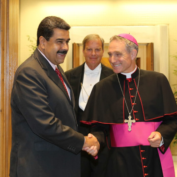 Image: Venezuelan President meets with Pope Francis