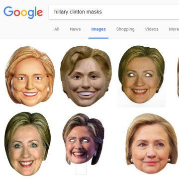 Hillary Clinton masks