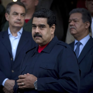 Image: Martin Torrijos, Jose Luis Ridriguez Zapatero, Nicolas Maduro