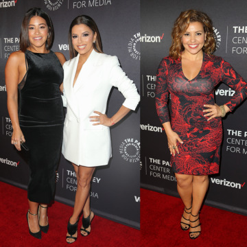 Left to right: Daisy Fuentes, Andrea Navedo, Gina Rodriguez, Eva Longoria, Justina Machado and Lucia Arnaz