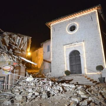 Image: The church of San Sebastiano in Castelsantangelo sul Nera