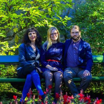 Image: Birgitta Jonsdottir, Asta Helgadottir and Helgi Hrafn Gunnarsson