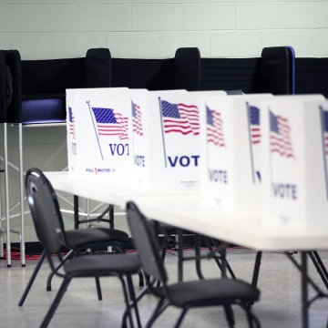 Image: Michigan Voters Head To The Polls For The State's Primary