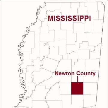 MAP: Newton County, Miss.