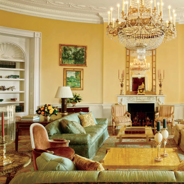 Image: The Yellow Oval Room in the White House