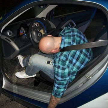 Image: Reynoldsburg police shared a photo after they found an unconscious male behind the wheel