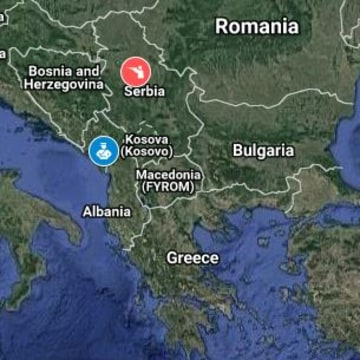 Image: Map of NATO and Russian drills