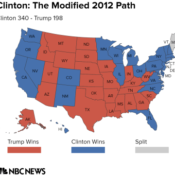 Electoral College Map Potential Paths To Victory For Clinton And - Trump vs clinton us map