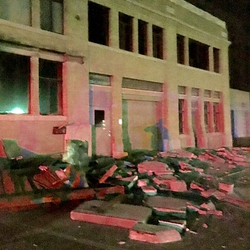 Image: Earthquake damage in Cushing, Oklahoma