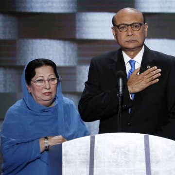 Image: Ghazala and Khizr Khan