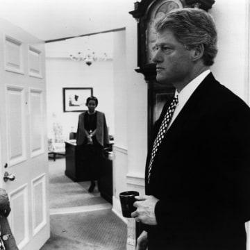 Image: U.S. President Bill Clinton and Janet Reno