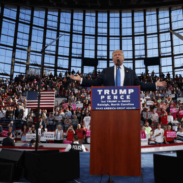 Image: Donald Trump speaks during a campaign rally