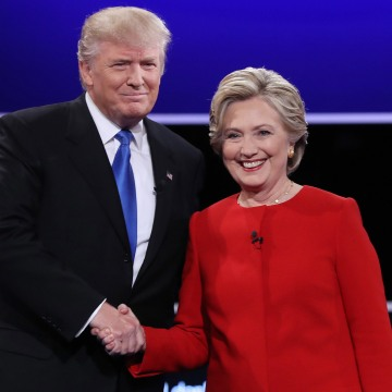 Image: Donald Trump and Hillary Clinton