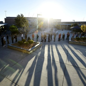 Image: People line up at a polling staton to cast their ballot during the 2016 presidential election in Las Vegas, Nevada