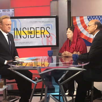 Khizr and Ghazala Khan speak with MSNBC's Lawrence O'Donnell on Tuesday, Nov. 8, 2016, as polls begin to close.