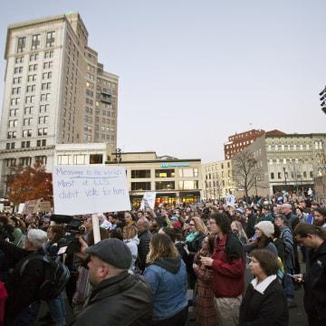 Image: Anti-Trump rally in Michigan