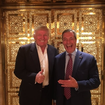 Image: Nigel Farage posted a picture of himself and Donald Trump on Twitter.