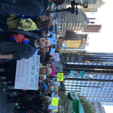 IMAGE: Anti-Trump protest in New York