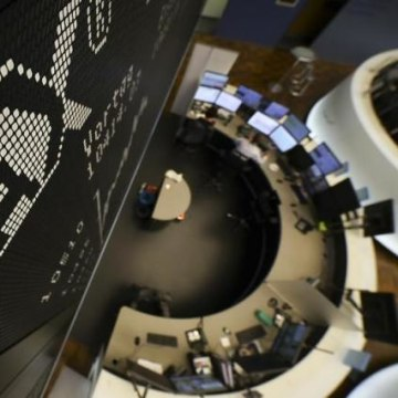 The German share prize index (DAX) board is seen at the trading room of Frankfurt's stock exchange
