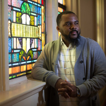 Billy Honor, pastor of Pulse Church, poses for a portrait at his church, Sunday, Nov. 13, 2016, in Atlanta.