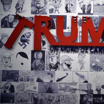 MEXICO-US-ART-TRUMP-CARICATURE
