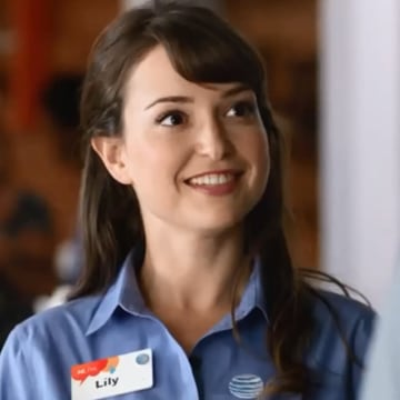 Image: Milana Vayntrub as Lily for AT&T
