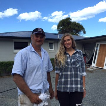 Image: Prentice family's damaged house