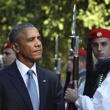 Image: Barack Obama, Panos Kammenos
