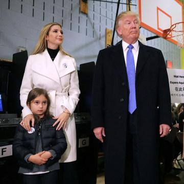 Image: Arabella Rose Kushner, Ivanka Trump, Donald Trump, Melania Trump